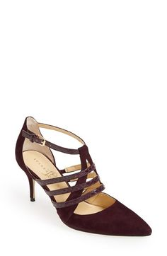 Free shipping and returns on Ivanka Trump 'Tellas' Pointy Toe Pump (Women) at Nordstrom.com. Snakeskin-embossed straps provide gorgeous textural contrast to a sophisticated pointy-toe pump.