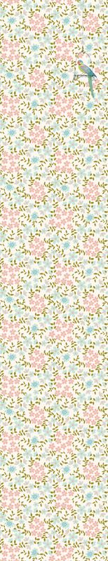 - Djeco - Wallpaper with floral pattern and rainbow lorikeet bird E Room, Romance, Rainbow, Rugs, Wallpaper, Floral, Pattern, Home Decor, Bedroom