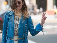 Street Style at Spring 2014 Fashion Week - NYFW Street Style Pictures - Marie Claire by happy world