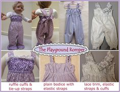 Playground Romper pdf sewing pattern by Felicity Sewing Patterns
