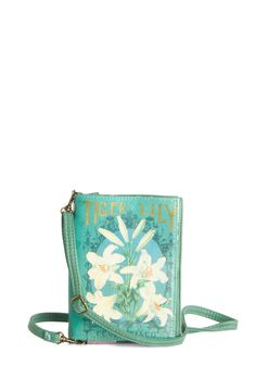 A Natural Choice Clutch in Tiger Lily by Disaster Designs - Faux Leather, White, Print, Boho, Scholastic/Collegiate, Darling, Mint, Floral