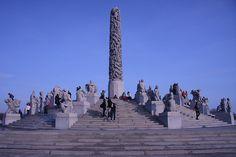 The Monolith in Frognerparken, Oslo. Frogner Park (Frognerparken)  is the biggest park in the central parts  of Oslo. As a part of Frognerparken, you will also find Vigelandsparken  (Vigeland Sculpture Park), Oslo's most visited attraction. Photo: NaustvikPhotography.com