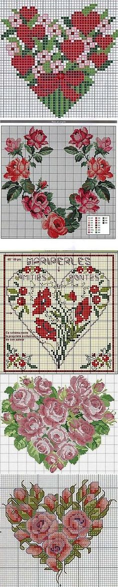 labhousehold.com Cross Stitch Heart, Modern Cross Stitch, Cross Stitch Flowers, Counted Cross Stitch Patterns, Cross Stitch Embroidery, Crochet Cross, Swedish Weaving, Le Point, Cross Stitching