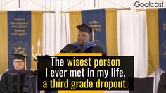 The Most Inspiring Speech: The Wisdom of a Third Grade Dropout Will Change Your Life - Rick Rigsby - YouTube