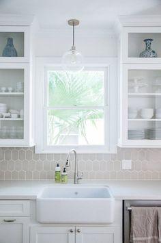 Marina & Sebastiano's Dream Home in Houston — House Tour. I like the white paint by Sherwin Williams Snowbound (50% more white)