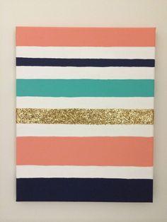 Stripes Glitter Wall Art