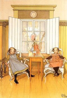 Carl Larsson, Stockholm, Carl Spitzweg, Swedish Style, Scandinavian Art, Arts And Crafts Movement, Museum Of Fine Arts, Large Painting, Oeuvre D'art
