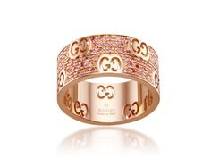 Gucci Icon Stardust Rose Gold & Pink Diamond Band