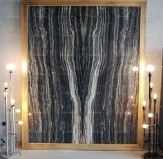 Nero Picasso #bookmatch #marble #stone #wall #design #decor Marble Wall, Marble Slabs, Exterior Wall Design, Stone Wall Design, Blue Wall Decor, Pallet Wall Art, Console, Rustic Stone, Cool Walls