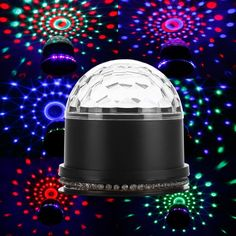 14.98$  Watch now - http://alikfi.shopchina.info/go.php?t=32771142982 - Tanbaby LED Stage Lights Colorful Magic Crystal Rotating Lighting for DisCo DJ KTV Bars Christmas Party Wedding Shows  #buyonline