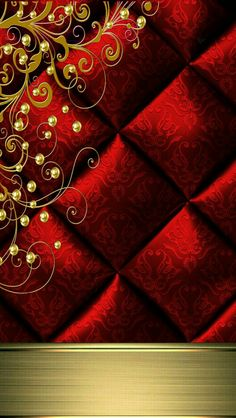 Red And Gold Wallpaper, Android Wallpaper Red, Iphone Wallpaper, Wallpaper Backgrounds, Wallpapers, Red Gold, Paisley, Texture, Luxury