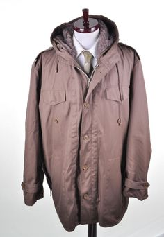 Vintage Military Fur Lined Parka XL