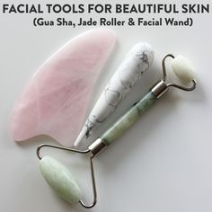 How to Use a Gua Sha, Jade Roller and Facial Wand for Beautiful Skin — Speyeral Beauty Natural Dry Shampoo, Natural Deodorant, Skin Care Tools, Diy Skin Care, Jade, Gua Sha Facial, Healthy Skin Care, Beauty Routines, Beauty Stuff