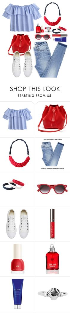 """""""Summer Vibes"""" by gicreazioni ❤ liked on Polyvore featuring Lacoste, Cutler and Gross, Converse, Cacharel, Elemis, Swiss Legend, etsy, necklace and handmade"""