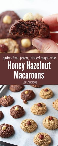 Honey Hazelnut Macaroons are a holiday twist on the classic coconut version. The soft, gluten-free cookies are only sweetened with honey and paleo-friendly.  AD ouramericankitchen