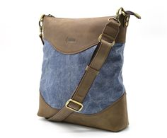 101e8a16a648 Waxed canvas plus crazy horse leather handmade mens messenger shoulder bag  TARWA 1807 custom gift, Crossbody Bags, Shoulder Bag