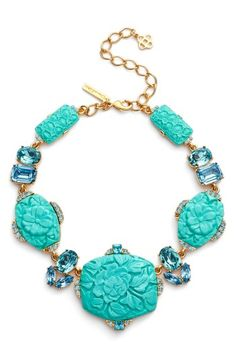 Carved Resin Statement Necklace