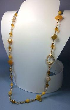 Collana+gialla++di+Quisikrea+su+DaWanda.com