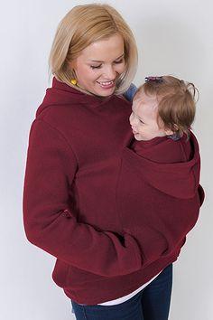 Bordová mikina na nošení dětí s kapucí Turtle Neck, Hoodies, Sweaters, Fashion, Moda, Sweatshirts, Fashion Styles, Sweater, Hoodie