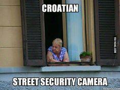 Croatian street security camera