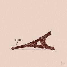 Beautiful minimalist illustrations based off of everyday puns