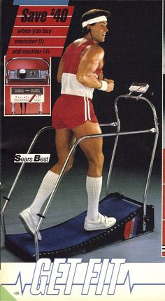 #80s #fitness #fashion #workout #clothes #sears #treadmill