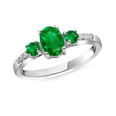 Angara Oval Emerald and Diamond Engagement Ring in Yellow Gold