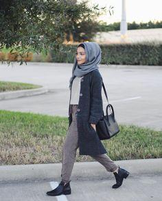FOREVER 21 Pants using this Bushra looks│fall in tx Hijab Casual, Hijab Chic, Modern Hijab Fashion, Muslim Fashion, Modest Fashion, Fashion Cover, Love Fashion, Fashion Ideas, Fashion Inspiration