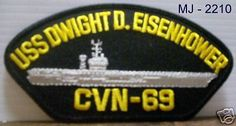US Navy USS Dwight D. Eisenhower CVN-69 Embroidered Patch