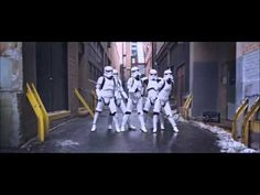 WOAH! stormtroopers dancing on single ladies! now THAT is something i never though i would see!