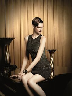 short wavy hairstyle inspired by 1920s #flapper