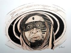 O VELHO DA MONTANHA (bico de pena, lápis de cor aquarelável s/ papel C à grain 224g/cm², tamanho: A4)