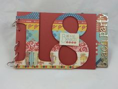 18th Birthday Guest Book handcrafted by Incy Wincy Designs