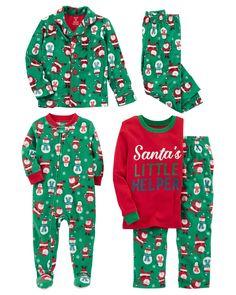 Baby Boy Christmas pajamas - from Carter's Little Boy Outfits, Toddler Boy Outfits, Toddler Boys, Baby Kids, Kids Outfits, Boys Christmas Pajamas, Baby Boy Christmas, Baby Girl Jumpsuit, Boys Closet