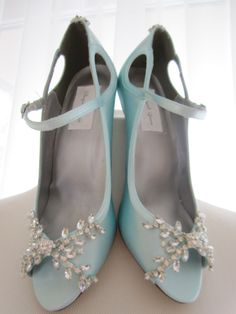 Beautiful Tiffany Blue Wedding Shoes