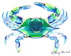 Image result for maryland blue crab pictures art