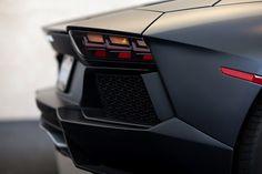 Matte black Lamborghini Aventador taillight
