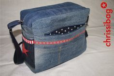 Tasche aus Jeanshose / Bag made from old pair of jeans