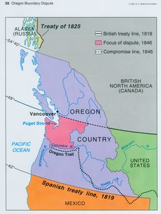Aug Oregon Country Is Divided Between The United States - Map ot the us