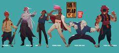 Kung Fu is Dead (character concepts), Malcolm Wopé on ArtStation at https://www.artstation.com/artwork/k6ewy