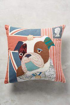 patchwork bulldog pillow