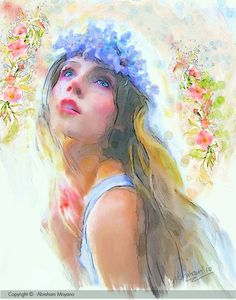 watercolor | Imagine Publishing - Corel Painter Official Magazine - Learn to paint ...  I like the ink highlights