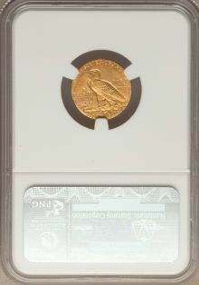 Indian Quarter Eagles, 1910 $2 1/2 MS62 NGC. NGC Census: (2902/2451). PCGS Population(1026/1227). Mintage: 492,000. Numismedia Wsl. Price for pro...