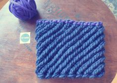 navy + blueberry cowl
