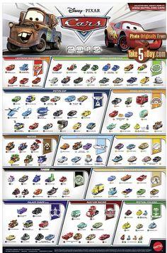 mattel disney pixar cars diecast website poster take five a day