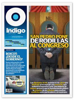 Reporte Indigo #212, Congress Is Dropped To Their Knees, Artwork by Hugo Herrera, Cover Design by Memo Camacho