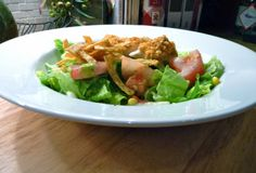 Southwestern Chicken Casear Salad for Two
