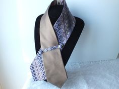OOAK  Lilac Light Brown Unisex Neckwear Collar Scarf. by OseArt, $45.00