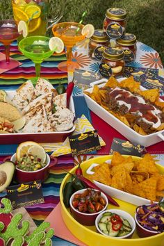 Amazing food at a Mexican fiesta birthday party! See more party ideas at CatchMyParty.com!