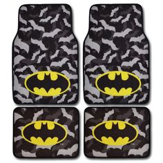 Batman Car Floor Mats - Warner Brothers Car Accessory by FASHIONISTAMATS on Etsy https://www.etsy.com/listing/207143516/batman-car-floor-mats-warner-brothers